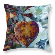 Heart On My Leaves Throw Pillow