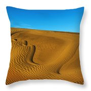 Heart In The Sand Dunes Throw Pillow