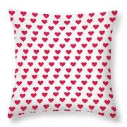 Heart Patterns Throw Pillow