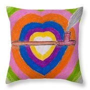 Heart Pipe Throw Pillow