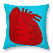 Heart Red Throw Pillow