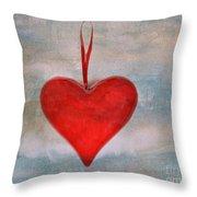 Heart Shape Textured Throw Pillow