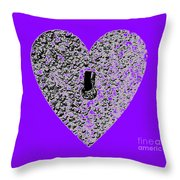 Heart Shaped Lock - Purple Throw Pillow