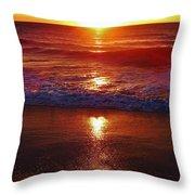 Heart Shaped Sunbeam 2 3/9 Throw Pillow