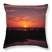 Heart Shaped Sunset In Brazil Throw Pillow