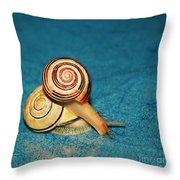 Heart Snails Throw Pillow