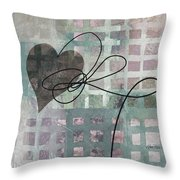 Heart String Abstract- Art  Throw Pillow