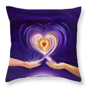 Heart Unity Throw Pillow