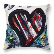 Heart With Wings Throw Pillow