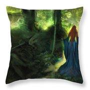 Heart Wood Throw Pillow
