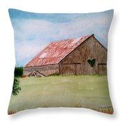 Heartland Barn Throw Pillow