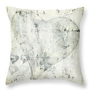 Hearts 13 Square Throw Pillow