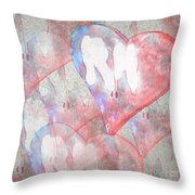 Hearts 15 Square Throw Pillow