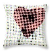 Hearts 21 Square Throw Pillow