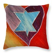 Hearts And Stars Forever Throw Pillow