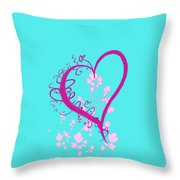 Hearts And Vines Throw Pillow