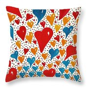 Hearts For You Throw Pillow