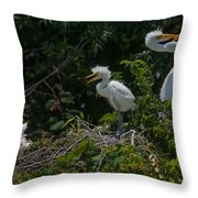 Hearts Of Love Throw Pillow