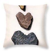Hearts Rock Throw Pillow