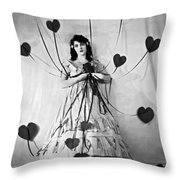 Hearts With Strings Attached Throw Pillow