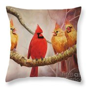 Heat In The Harem Throw Pillow