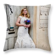 Heather On Royal St. Throw Pillow
