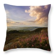 Heather Sunset Throw Pillow