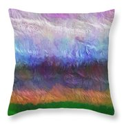 Heaven And Earth Mixed Media Painting Throw Pillow
