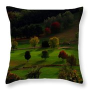 Heaven Below Tiny Trees Throw Pillow