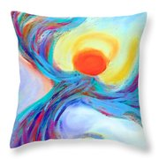 Heaven Sent Digital Art Painting Throw Pillow