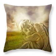 Heavenly Angels Vintage Throw Pillow