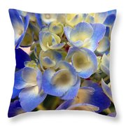 Heavenly Blues Throw Pillow