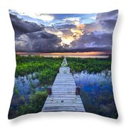 Heavenly Harbor Throw Pillow by Debra and Dave Vanderlaan