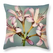 Heavenly Lilies Throw Pillow