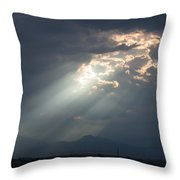 Heavenly Rays Throw Pillow