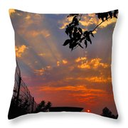 Heavenly Rays Two Throw Pillow