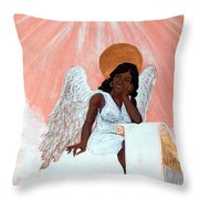 Heavenly Soul Throw Pillow by Edward Fuller