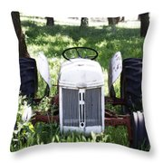 Heavenly Tractor Throw Pillow