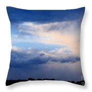 Heavenly Winter Blues Throw Pillow