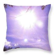 Heavens Blue  Throw Pillow