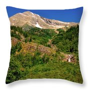 Heavens Peak Glacier International Peace Park Throw Pillow