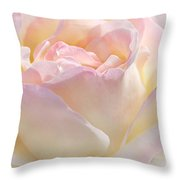 Heaven's Pink Rose Flower Throw Pillow