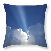 Heaven's Spotlight Throw Pillow