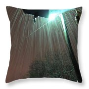 Heavy Evening Snow Throw Pillow