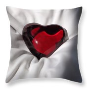 Heavy Heart Throw Pillow