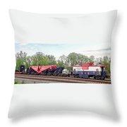 Heavy Lift 1m Pound Capacity Schnabel Train Set By Emmert International Throw Pillow