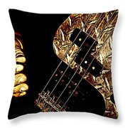 Heavy Metal Bass Throw Pillow