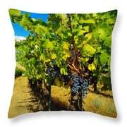 Heavy On The Vine At The High Tower Winery  Throw Pillow
