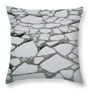 Heavy Pack Ice Terre Adelie Land Throw Pillow