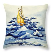 Heavy Seas Throw Pillow